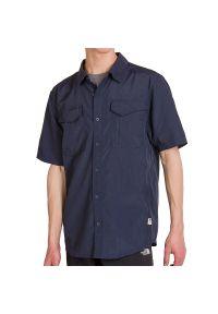 Niebieska koszula The North Face z krótkim rękawem, krótka
