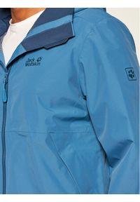 Niebieska kurtka turystyczna Jack Wolfskin #4