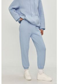 Niebieskie spodnie dresowe Answear Lab gładkie