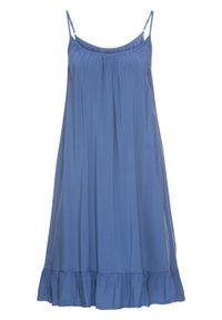 Sukienka na ramiączkach bonprix indygo. Kolor: niebieski. Długość rękawa: na ramiączkach