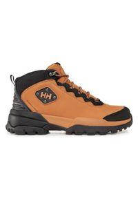 Brązowe buty trekkingowe Helly Hansen trekkingowe, z cholewką