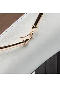 Białe półbuty Gino Rossi z cholewką, z aplikacjami, eleganckie