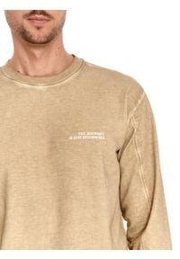 TOP SECRET - Bluza męska z efektem sprania. Kolor: beżowy. Materiał: tkanina, bawełna. Długość rękawa: długi rękaw. Długość: długie. Sezon: lato. Styl: wakacyjny