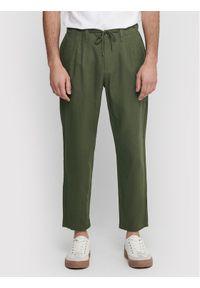 Only & Sons - ONLY & SONS Spodnie materiałowe Leo 22013002 Zielony Regular Fit. Kolor: zielony. Materiał: materiał