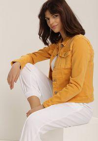 Żółta kurtka jeansowa Renee