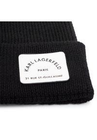 Czarna czapka zimowa Karl Lagerfeld