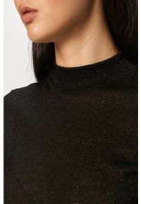 Czarny sweter only z długim rękawem, z okrągłym kołnierzem