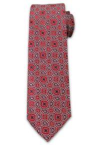 Wyrazisty, Męski Krawat, Wzór Paisley- Chattier, Kolorowy, Różowy. Kolor: wielokolorowy. Materiał: tkanina. Wzór: paisley. Styl: wizytowy, elegancki