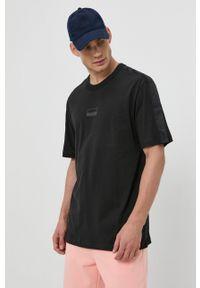 adidas Originals - T-shirt bawełniany. Okazja: na co dzień. Kolor: czarny. Materiał: bawełna. Wzór: gładki. Styl: casual