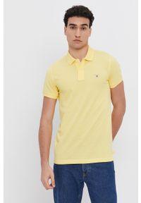 GANT - Gant - Polo. Okazja: na co dzień. Typ kołnierza: polo. Kolor: żółty. Długość: krótkie. Styl: casual