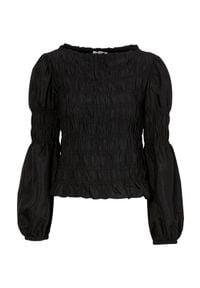 Cream Bluzka z wiskozy ze szwami marszczonymi Henva Czarny female czarny 42. Kolor: czarny. Materiał: wiskoza. Styl: elegancki