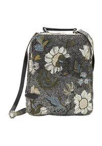 Czarna torebka Ceannis przez ramię, w kwiaty