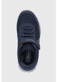Niebieskie buty sportowe Kappa z cholewką, z okrągłym noskiem
