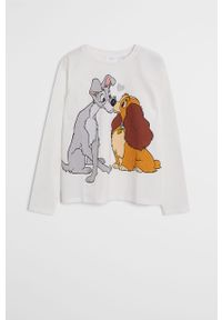 Biała piżama Mango Kids z nadrukiem