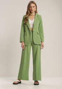 Renee - Jasnozielona Marynarka Kaliphethe. Kolor: zielony. Długość rękawa: długi rękaw. Długość: długie. Styl: elegancki #4