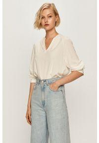 Biała bluzka Marc O'Polo ze stójką, długa, elegancka