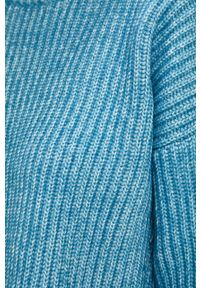 Niebieski sweter Glamorous z golfem