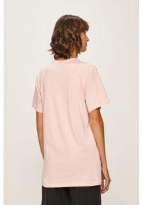Różowa bluzka Ellesse casualowa, z nadrukiem, na co dzień
