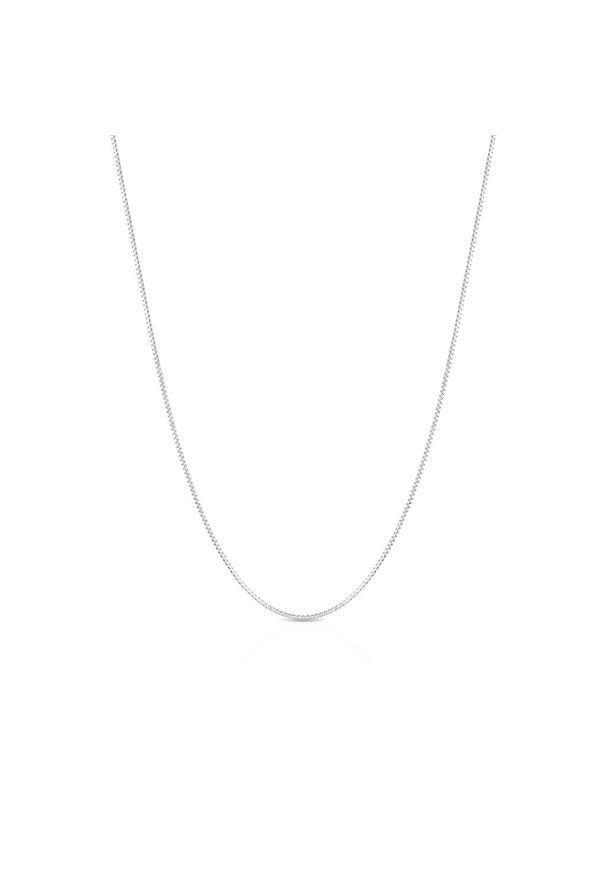 W.KRUK Piękny Srebrny Łańcuszek - srebro 925 - WWK/L095. Materiał: srebrne. Kolor: srebrny. Wzór: ze splotem