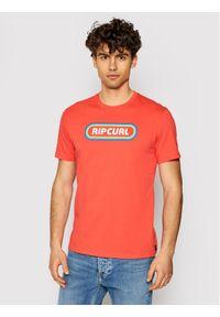 Rip Curl T-Shirt Surf Revival Hey Muma CTERP9 Czerwony Standard Fit. Kolor: czerwony