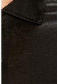 Czarna koszula Baldessarini z długim rękawem, casualowa, z włoskim kołnierzykiem