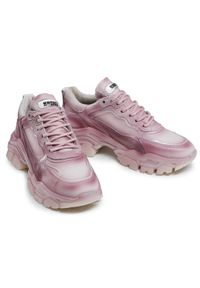Różowe sneakersy Bronx z cholewką, na co dzień