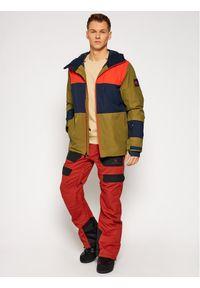 Zielona kurtka sportowa Quiksilver snowboardowa