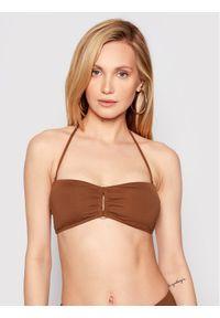 Seafolly Góra od bikini Rectangle Trim 31280-058 Brązowy. Kolor: brązowy