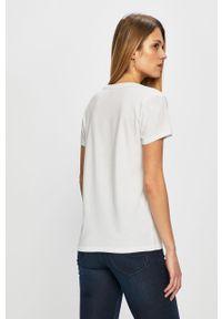 Biała bluzka Levi's® z okrągłym kołnierzem, biznesowa, na spotkanie biznesowe