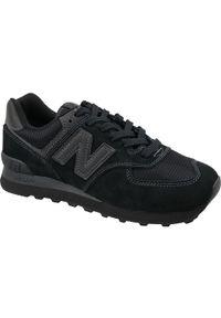 Czarne sneakersy New Balance z cholewką, w kolorowe wzory