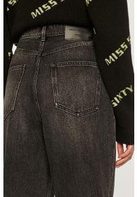 Szare jeansy loose fit Miss Sixty klasyczne, z podwyższonym stanem