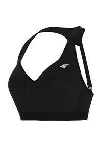 4f - Biustonosz damski sportowy 4F H4L21-STAD010. Kolor: czarny. Materiał: materiał, poliamid, poliester, elastan