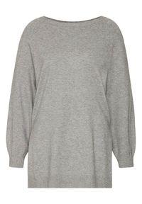 Szary sweter klasyczny Marella