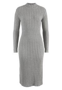Szara sukienka bonprix midi, melanż