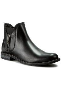 Czarne buty zimowe Gino Rossi z cholewką, na co dzień, klasyczne