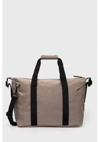 Rains - Torba 1319 Weekend Bag Small. Kolor: beżowy