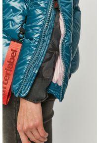 Niebieska kurtka After Label z kapturem