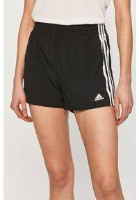 Adidas - adidas - Szorty. Okazja: na co dzień. Kolor: czarny. Materiał: materiał. Styl: casual