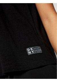 DKNY Sport Top DP0T7453 Czarny Regular Fit. Kolor: czarny. Styl: sportowy