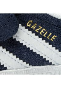 Niebieskie półbuty Adidas z cholewką, na rzepy