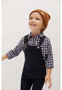 Niebieska koszula Mango Kids z długim rękawem, casualowa, długa, na co dzień