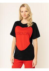 Czarny t-shirt Escada Sport sportowy
