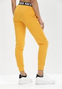 Born2be - Żółte Spodnie Dresowe Isiphi. Kolor: żółty. Materiał: dresówka