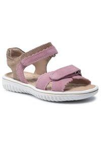 Superfit - Sandały SUPERFIT - 1-009008-5500 S Rosa/Beige. Kolor: różowy. Materiał: skóra, zamsz