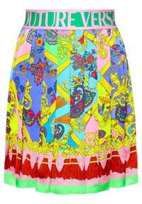 Różowa spódnica plisowana Versace Jeans Couture