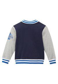 """Bluza chłopięca rozpinana """"college"""" bonprix ciemnoniebiesko-jasnoszary melanż. Kolor: niebieski. Wzór: melanż"""