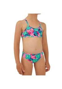 OLAIAN - Kostium Kąpielowy Dwuczęściowy Boni 100 Naka Dla Dzieci. Kolor: zielony. Materiał: poliester, elastan, materiał