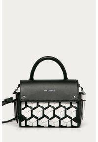 Czarna listonoszka Karl Lagerfeld mała, na ramię