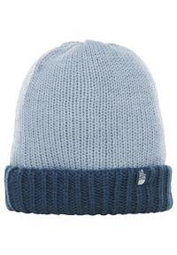 Niebieska czapka The North Face na zimę