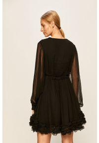 Czarna sukienka Miss Sixty mini, rozkloszowana